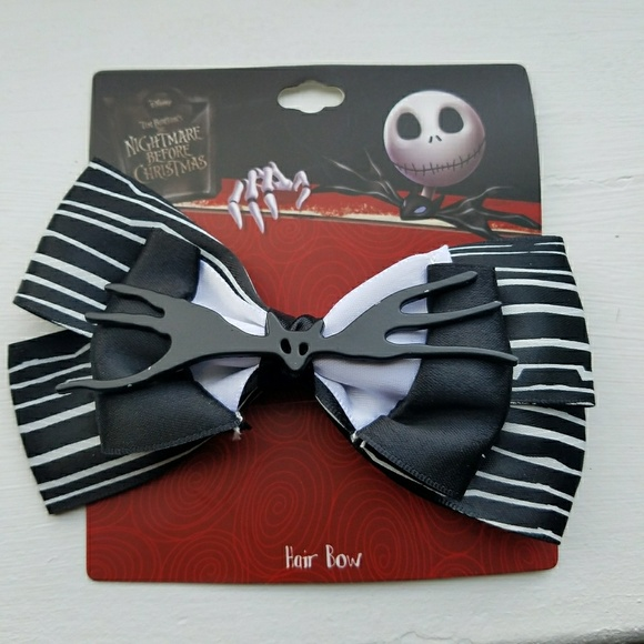 Hot Topic Accessories | Nightmare Before Christmas Hair Bow | Poshmark